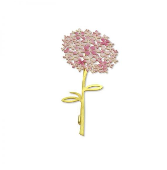 """Brooches Brooch Pink \\""""Hortensia\\"""" Gold"""