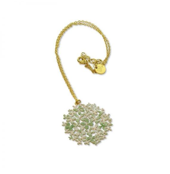 Pendants Green Gold Hydrangea Short Pendant