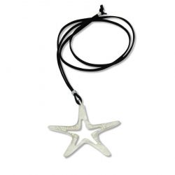 Collier long argenté Estrella de Mar