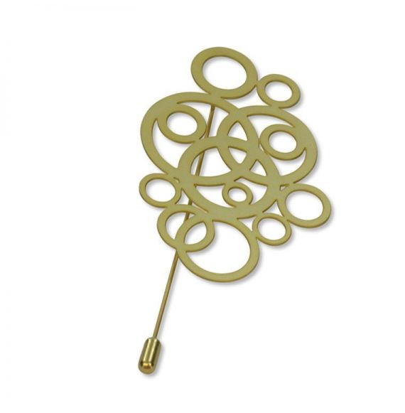 Brooches Circles Brooch Gold