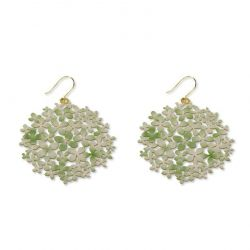 "Earrings Earrings Green \""Hortensia\\"" Gold"