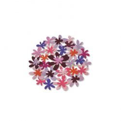 Purple Bouquet Pin Silver