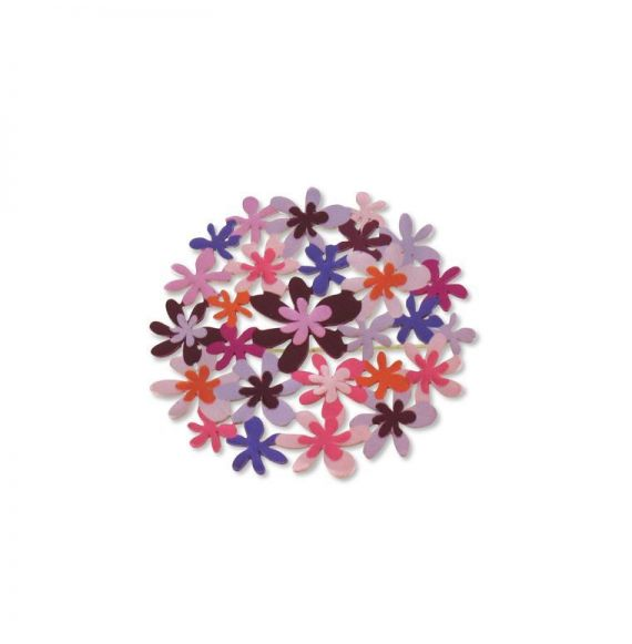 Brooches Purple Bouquet Silver Pin