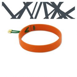 Leather bracelets Orange Crossroad Leather Bracelet