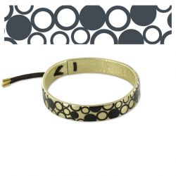 Leather bracelets Gold Circles Leather Bracelet