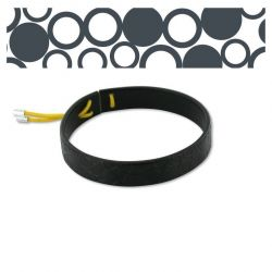 Leather bracelets Black Circles Leather Bracelet