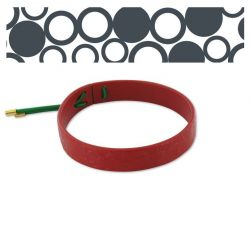 "Leather Bracelet ""Círculos"" Red"