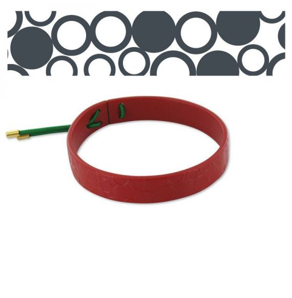 "Leather bracelets Leather Bracelet \""Círculos\\"" Red"