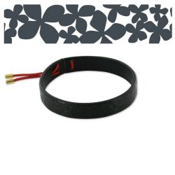 "Leather Bracelet ""Hortensia"" Black"