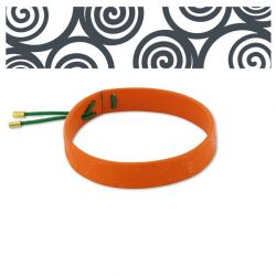 Spiral Orange Leather Bracelet