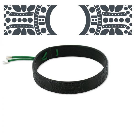 Leather bracelets Black Baroque Leather Bracelet