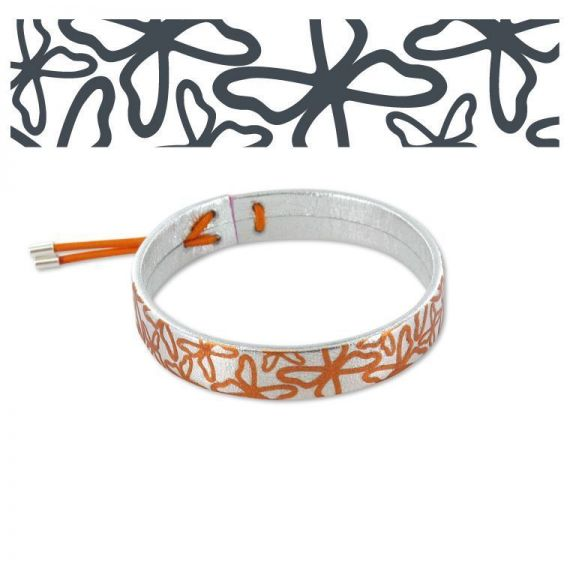 Alas al Viento Silver Leather Bracelet