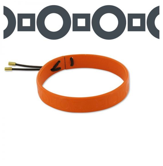 Geometrico Orange Leather Bracelet