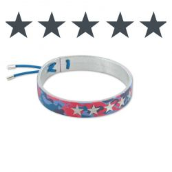 Camouflage Leather Bracelet Silver-Red