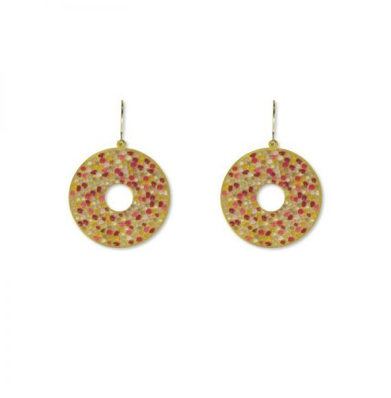 Earrings Piedras Rojas Earring Gold
