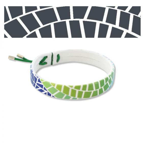 Leather bracelets White Gaudí Balcony Leather Bracelet