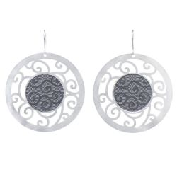 Bucle Gray Silver Earrings