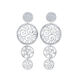 Earrings Long Earring Bucle Silver