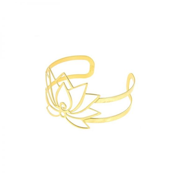 Bracelet Lotus Flower Gold Bracelet