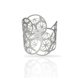 "Cool Designs Colection Silver Bracelet \""Estudio de Lúnulas\\"""
