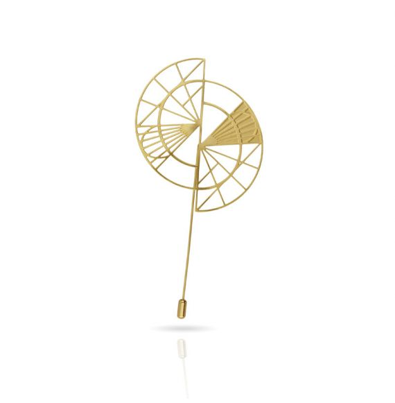 "Cool Designs Colection Golden Brooch \""Esquemas y Proyecciones\\"""
