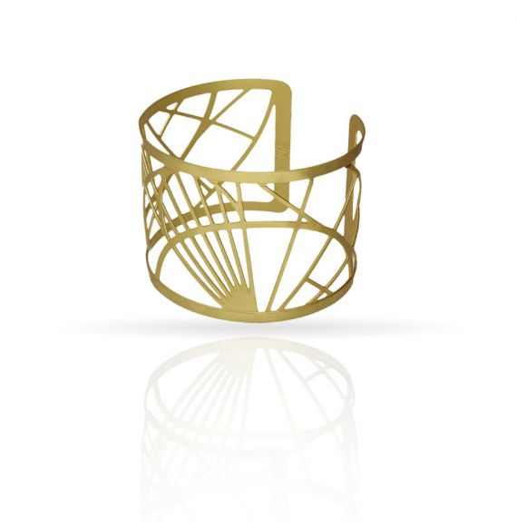 Cool Designs Colection Golden Bracelet Schemes and Projections