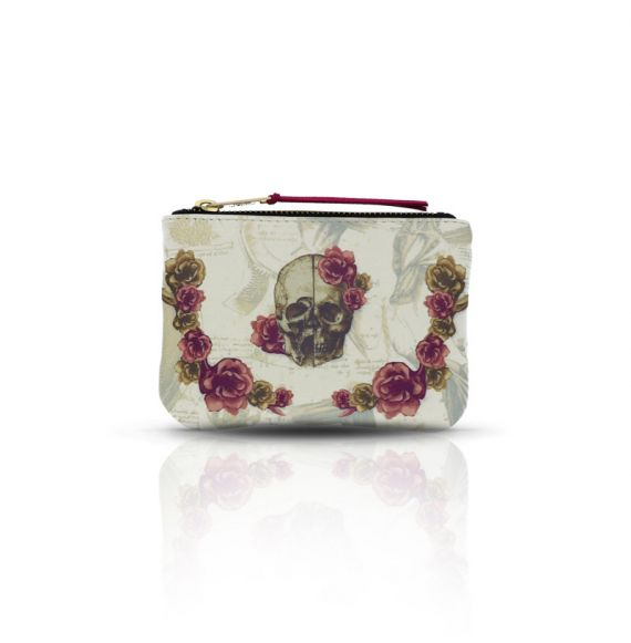 Cool Designs Colection Purse Skull with Flowers