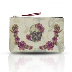 Cartera / Mini Clutch Calavera con Flores