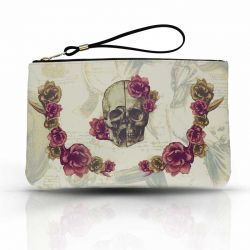 Cool Designs Colection Handbag Skull with Flowers