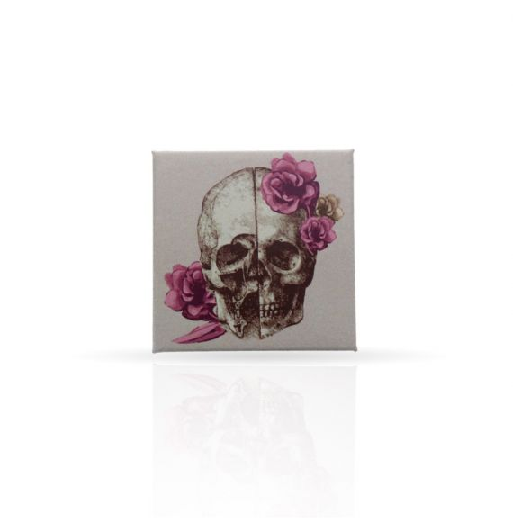 Magnet Skull with Flowers