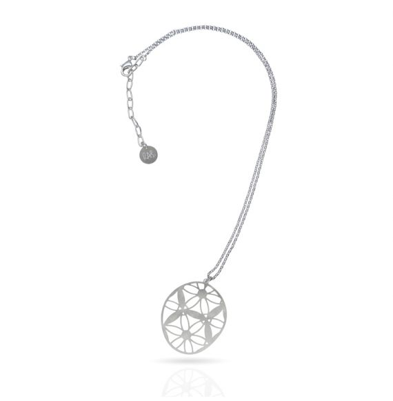 Cool Designs Colection Estudio de Lúnulas Short Pendant Silver