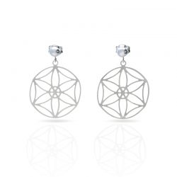 "Cool Designs Colection Silver Earrings \""Estudio de Lúnulas\\"""