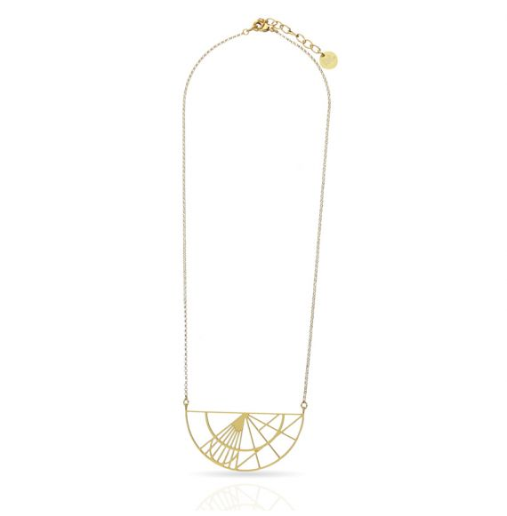 Cool Designs Colection Esquemas y Proyecciones Gold Short Pendant