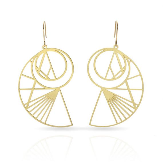 Cool Designs Colection Esquemas y Proyecciones Earring Gold