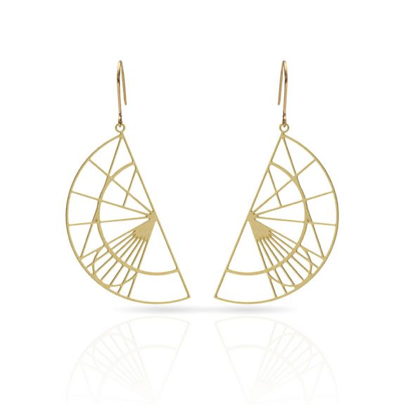 Cool Designs Colection Golden Earrings Schemes and Projections