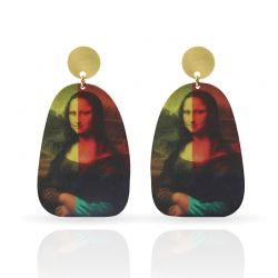 Cool Designs Colection Golden Earrings The Gioconda