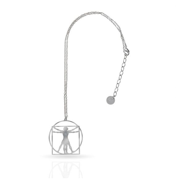 Cool Designs Colection Short Pendant The Vitruvio Man Silver