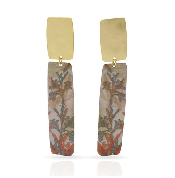 """Cool Designs Colection Earrings \\""""Lirios\\"""" Gold"""
