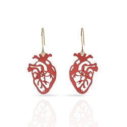 Cool Designs Colection Corazon Earring Gold