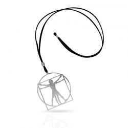 Cool Designs Colection Hombre de Vitruvio Silver Pendant
