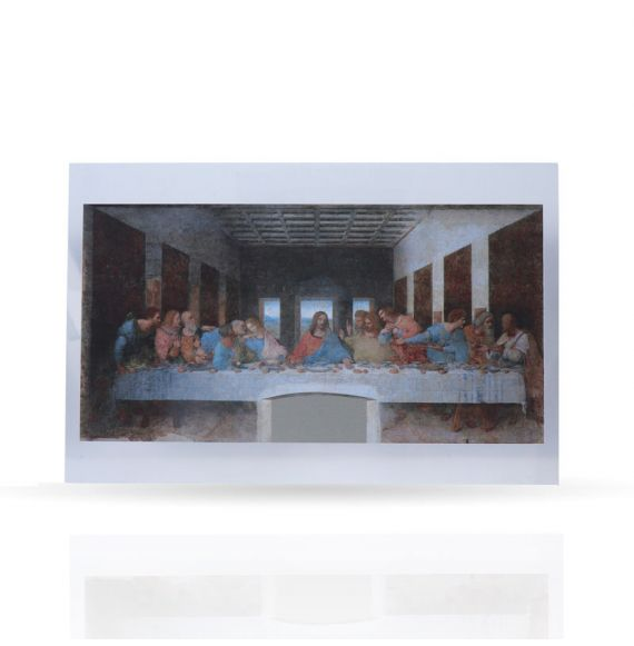 Metal Post Card The Last Supper