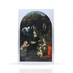 Cool Designs Colection Metal Post Card Virgin of the Rocks