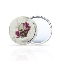 Pocket mirror Skull with Flowers