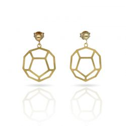 Cool Designs Colection Esquemas y Proyecciones Gold Earring