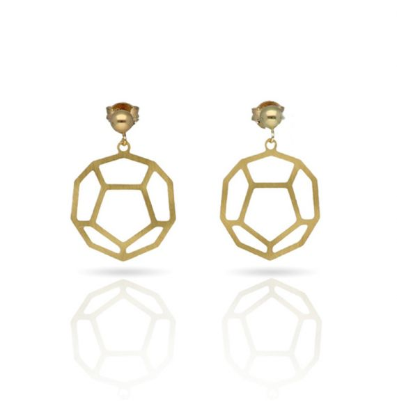 "Cool Designs Colection Golden Earrings \""Esquemas y Proyecciones\\"""