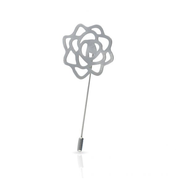 Brooches Rose Brooch Silver