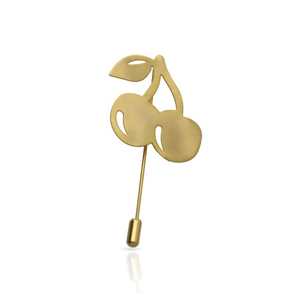 Brooches Cherry Brooch Gold