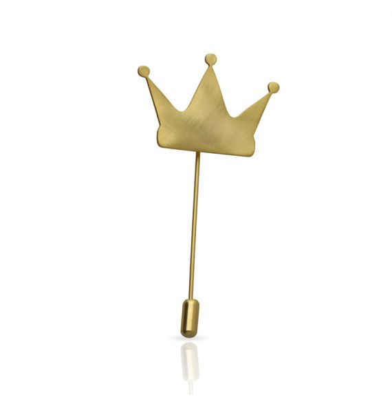 Brooches Crown Brooch Gold
