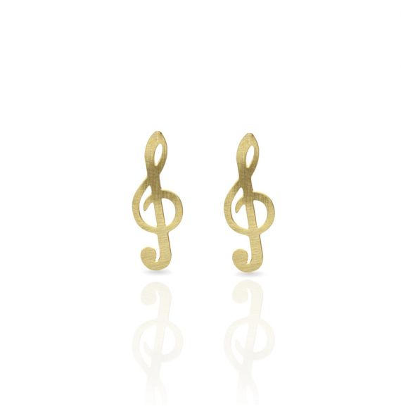 Earrings Clave de Sol Earring Gold