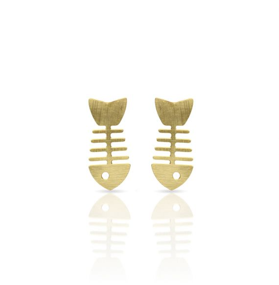 Earrings Fish Scrape Earring Gold